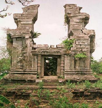 This is Preah Ko temple built by Indravarman III ( he was Jayavarman VII's son in law and ruled the Khmer Empire after Jay VII left the throne.)  http://www.canbypublications.com/siemreap/history.htm