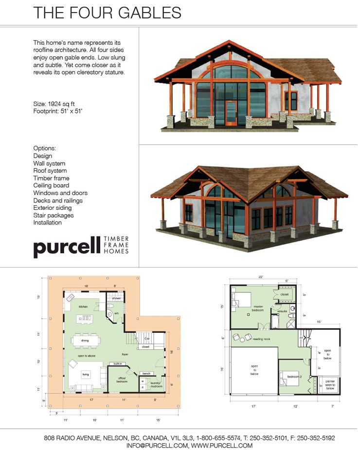 98 best floor plans images on pinterest architecture for Four gables house plan with garage