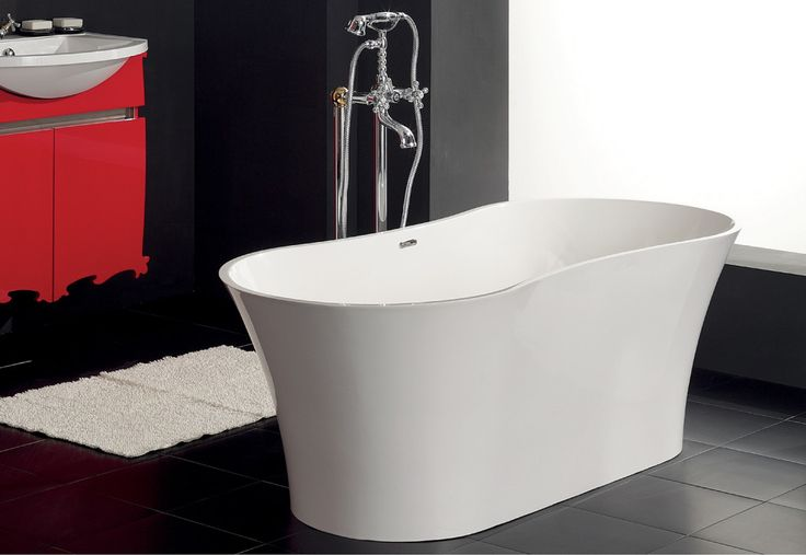 Изящная и привлекательная #ванна, абсолютно исключающая какую бы то ни было агрессию.