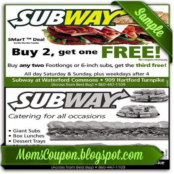 Subway discount coupons for carowinds