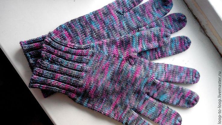 Купить Перчатки из мериносовой шерсти - перчатки, вязаные перчатки, перчатки вязаные, перчатки мужские