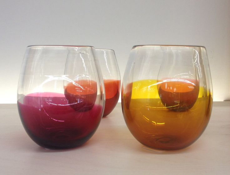 The shape and the colours! I love drinking out of these glasses!