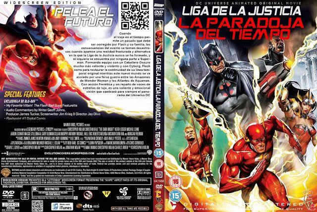 Caratulas Gratis Dvd Liga De La Justicia La Paradoja Del Tiempo Justi Liga De La Justicia Paradoja Del Tiempo Paradojas