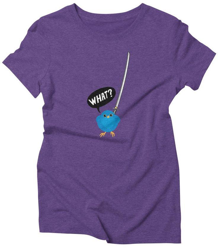 Katakana | funny shirt | sword | sassy | bird | ninja | battle | graphic tee | awesome