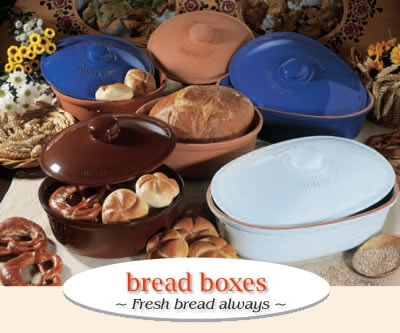 Wondering if I might need something like this for a sourdough bread box…    The round and oval bread boxes from RÖMERTOPF® keep bread fresh, naturally. The bread remains fresh in a natural way. Breathable natural clay ensures the necessary air circulation.