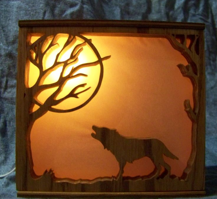 Light box  made on scroll saw                                                                                                                                                                                 More