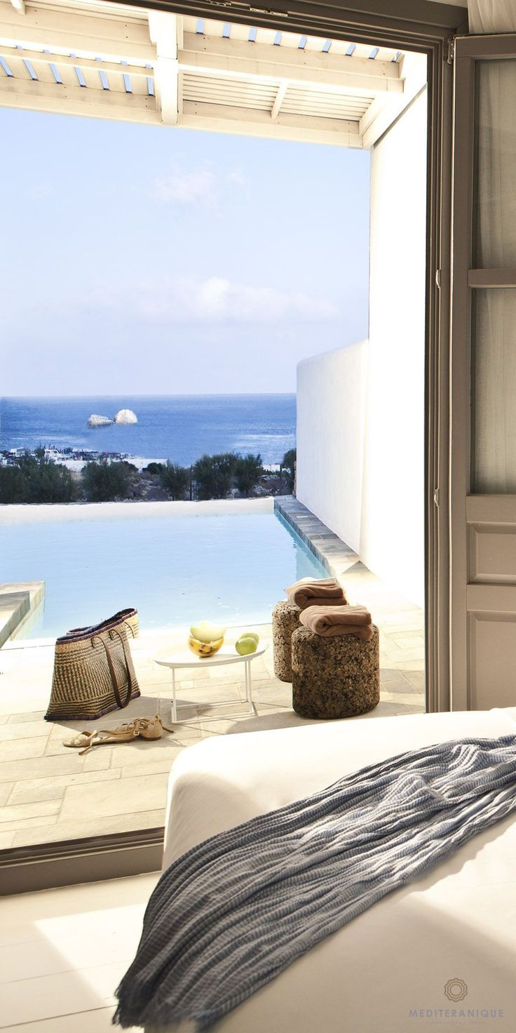 Suite with plunge pool at the Anemi Hotel in Folegandros, Greece