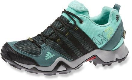 adidas AX2 GTX Hiking Shoes - These are truly waterproof and very supportive for standing and bathing dogs all day. My last ones lasted two years before I wore them down.