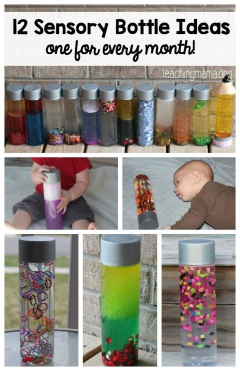 12 Sensory Bottle Ideas- Pin