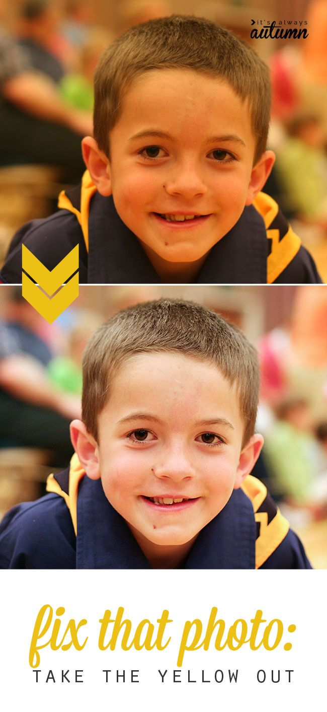 photos taken indoor can look yellow due to artificial lighting - find out how to fix them in one click with this easy photo editing tip!