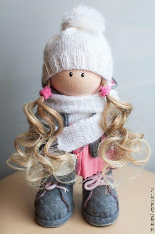 Купить В ожидании тепла - розовый, кукла ручной работы, кукла в подарок, кукла интерьерная