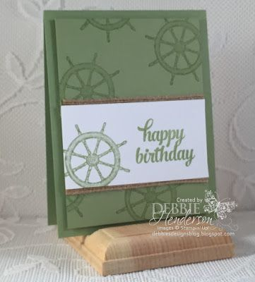 My November Masculine-Themed Workshop. 5 projects total. This one uses From Land To Sea and Tin Of Cards. Debbie Henderson, Debbie's Designs. #stampinup #debbiehenderson #debbiesdesigns #masculine