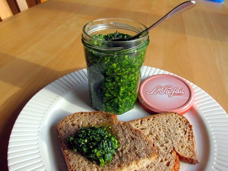 Domácí pesto z medvědího česneku / Zápisky a recepty jedné VEGETARIÁNKY: Recepty z mé kuchyně - jarní klenot přírody