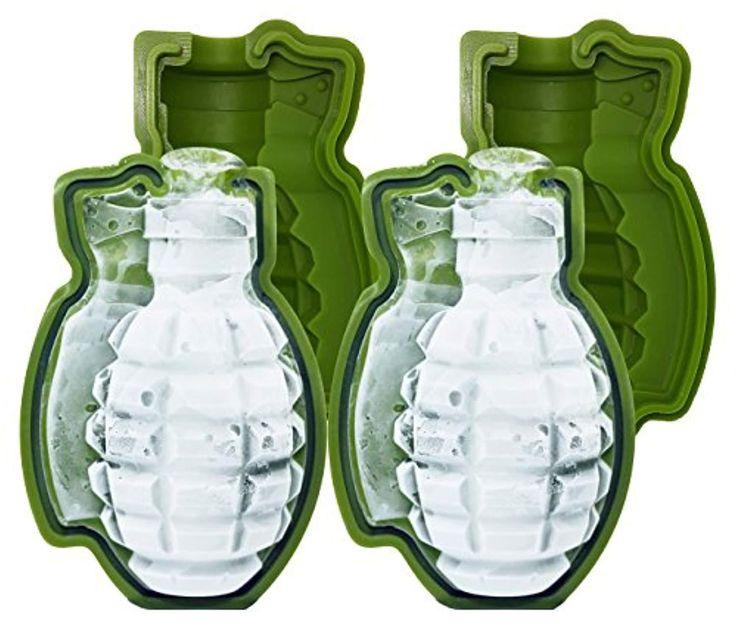 Battleraddle grenade ice tray mold ice cube maker ice