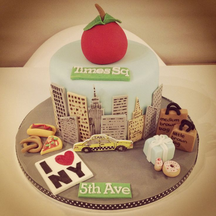 New York Themed cake Taxi Cab/NY Cakes Pinterest New ...