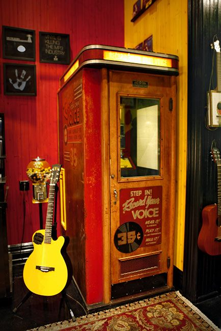 Third Man Record Booth | I'd love to place one in the music room.