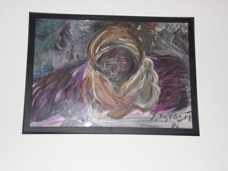 Tuareg, pittura ad olio