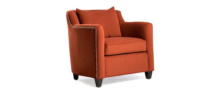 """Downey Fabric: Tuli #4 Includes no toss of kindney pillows  CHAIR (as shown) Length (overall) 32"""" Length (inside) 23"""" Depth (overall) 33"""" Depth (seat) 18"""" Height (overall) 32"""" Height (arm) 26"""" Height (seat) 19"""""""