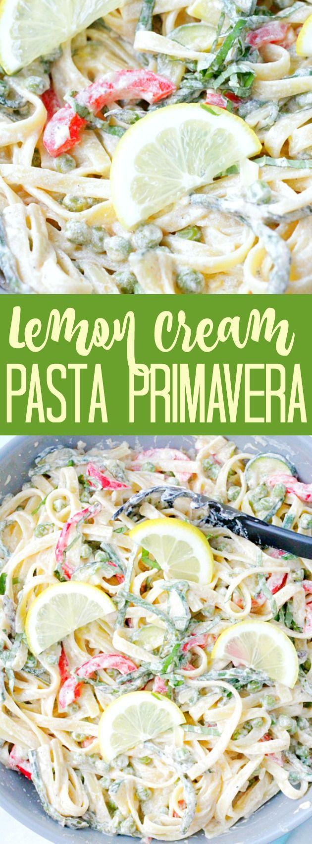 Lemon Cream Pasta Primavera