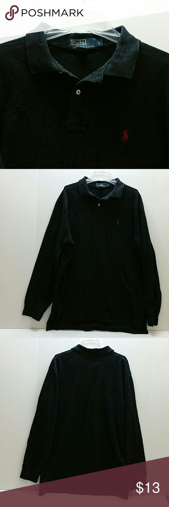POLO RALPH LAUREN MEN'S LONG SLEEVE POLO VERY CLEAN INSIDE-OUT   SKE # POC Polo by Ralph Lauren Shirts Polos