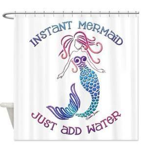 Instant Mermaid Shower Curtain  $59.99 www.mermaidhomedecor.com
