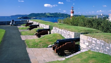 Plymouth, taken from the battlements of the citadel