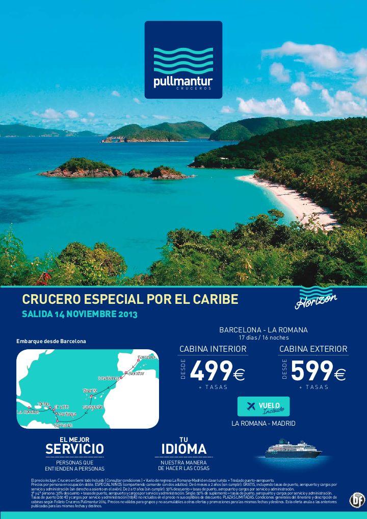 Crucero Caribe desde Barcelona - Pullmantur con vuelo. Desde 499€ - http://zocotours.com/crucero-caribe-desde-barcelona-pullmantur-con-vuelo-desde-499e/