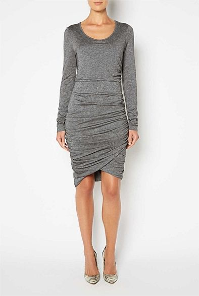 #junesale Sale Her | Witchery - Long Sleeve Ruched Dress