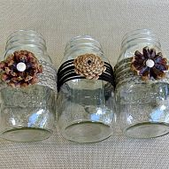Create these beautiful and unique pine cone flowers to accent mason ja… :: Hometalk
