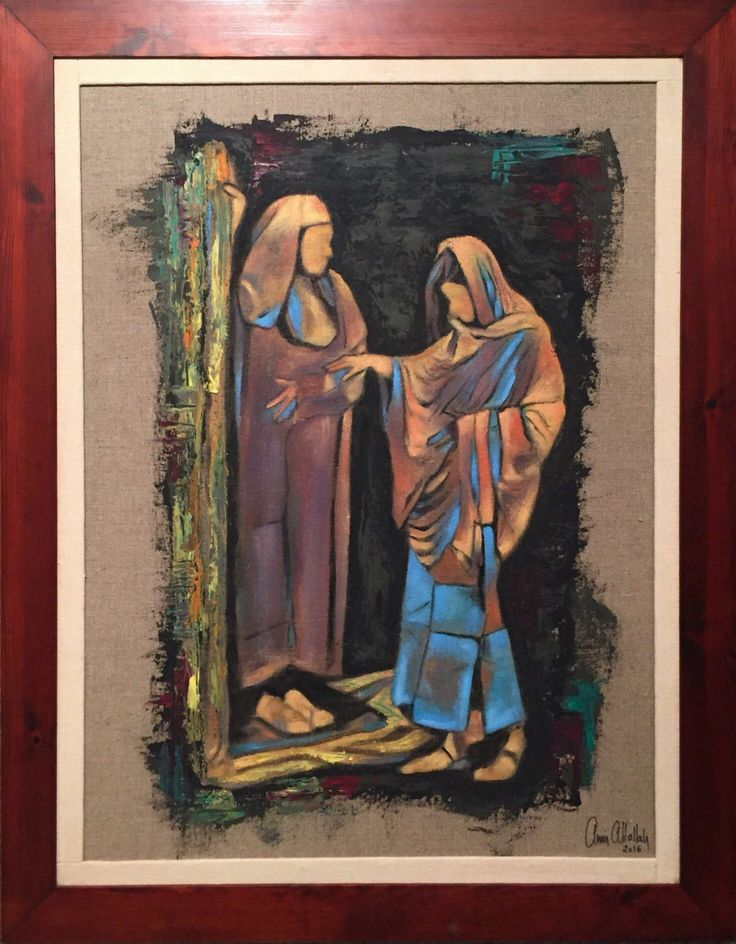 MOTHER AND SON  By Amir Attallah  In Paintings, Oil on linen Size: 700(L) X 500(W)  Price 1000 CHF  See it here: http://www.c-glory.ch/artwork.html #CGlory #MotherAndSon #Artwork