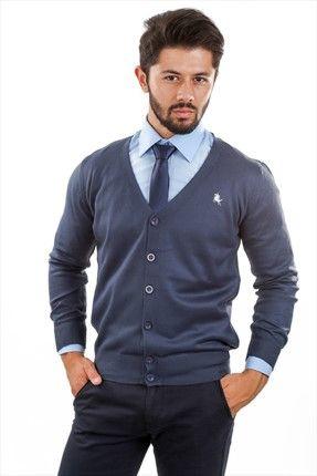 Stil Sahibi Erkekler - İndigo Hırka APHRK15002 sadece 29,99TL ile Trendyol da