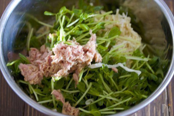 やみつき♪『切り干し大根と豆苗のツナごまマヨ和え』 by Yuu | レシピサイト「Nadia | ナディア」プロの料理を無料で検索