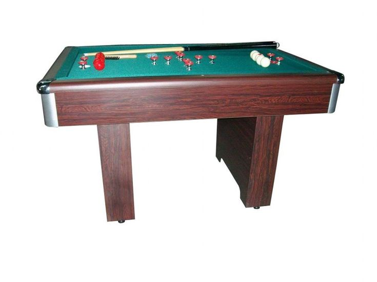 BUMPER POOL TABLE in WALNUT with CUE STICKS & BALLS~SLATE BED~ NEW | eBay