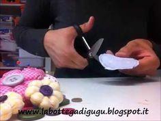 DIY -  Tutorial per fare fiori di stoffa di varie forme - YouTube