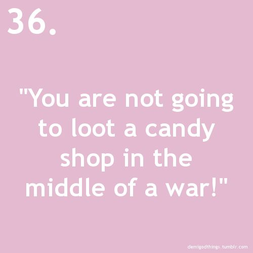 Looting the candy store in the middle of a war only the Stoll brothers.