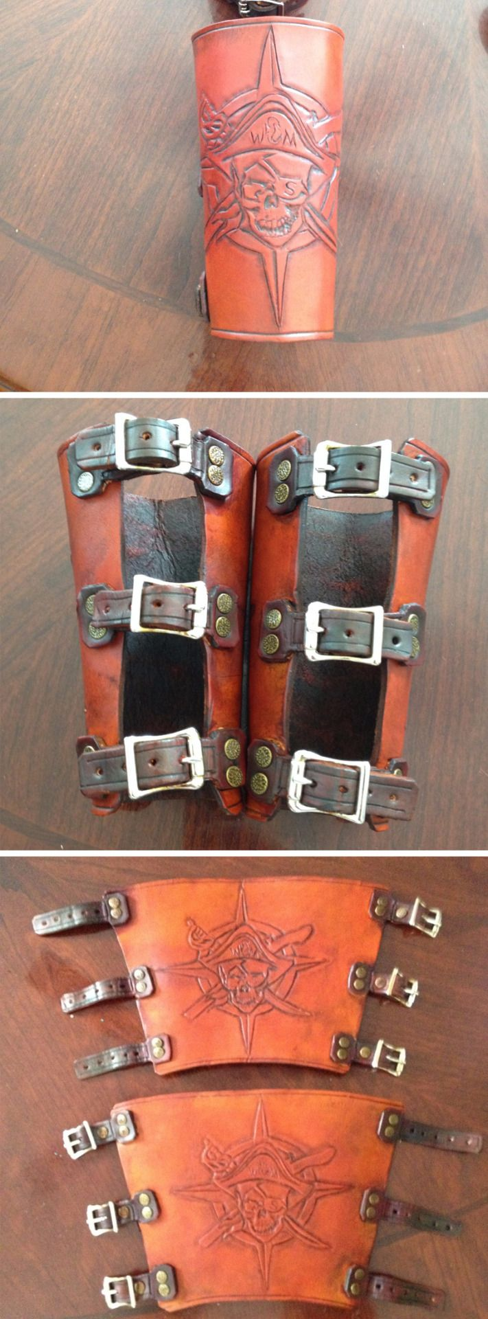 instructables:Leather Forearm Bracers by fxpuppethttp://www.instructables.com/id/Leather-Fore-Arm-Bracers/