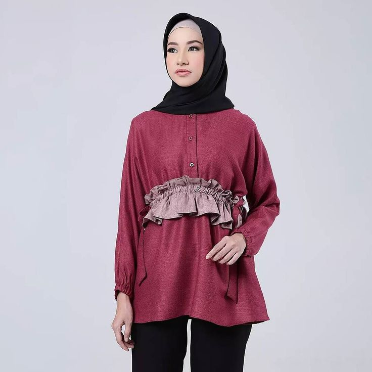 Madelie come to you with some color combination. This one is madelie maroon. Shop this look at :  www.eclemix.com  www.hijup.com  www.blibli.com . Or reach our admin contact for private shopping at :  line@: @eclemix  WA: 081326004010 . #eclemix #myeclemix #hijup #myhijup #bliblisekarang #fashion #hijab #bandung