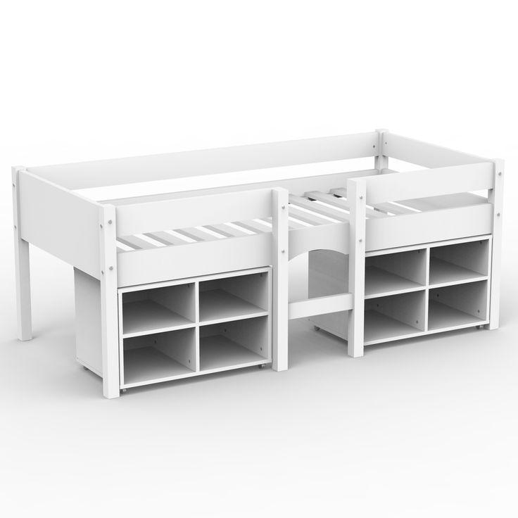 les 25 meilleures id es de la cat gorie lit mi hauteur sur pinterest lit en hauteur am nager. Black Bedroom Furniture Sets. Home Design Ideas