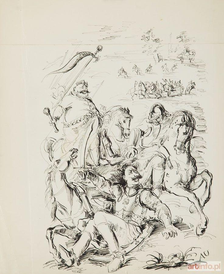 Antoni UNIECHOWSKI ● Zagłoba - ilustracja do Potopu Henryka Sienkiewicza ●