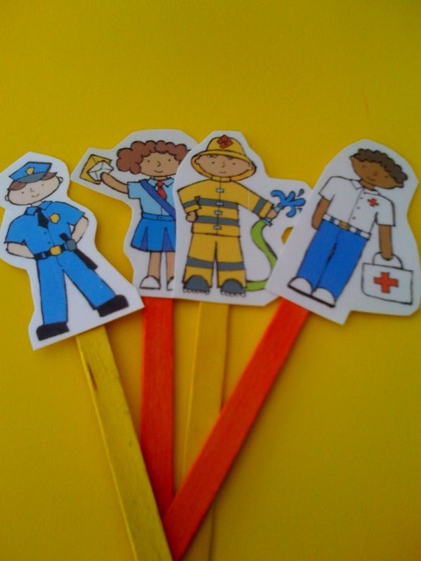 I would make a set of these for each of my students and then have them draw pictures that correspond with each of the characters to make sure that they understand the purpose of each of the community helpers.