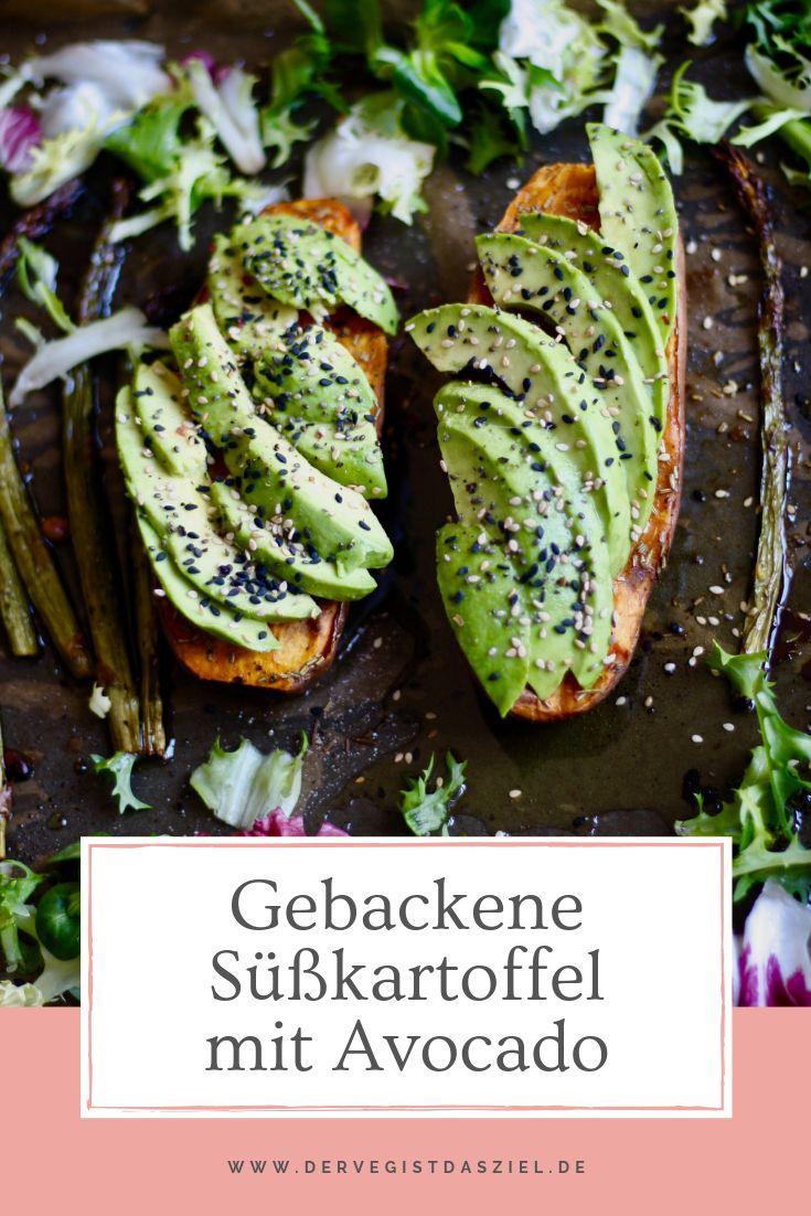 Batata-doce assada rápida com abacate e aspargos verdes   – Rezepte