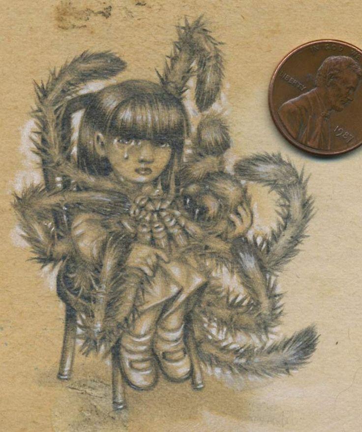 Зловещие, пугающие мини-рисунки дьявольской тематики и пинап, с историческими персонажами, киноартистами, героями комиксов и известных произведений / Jason D'Aquino (21)