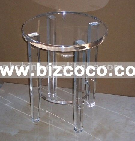 Round Clear Acrylic Pedestal,Lucite Plexiglass Table For Coffe,Transparent  Coffee Table