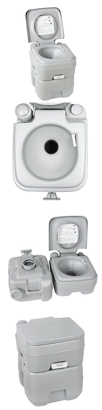 Portable Toilets and Accessories 181397: Flexzion Portable Camping Toilet 5 Gallon Recreation Flush Potty Commode 20L Ca -> BUY IT NOW ONLY: $91.68 on eBay!