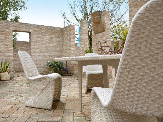 Lounge Terrassenmöbel Aus Polyrattan Gartenstuhl Ohne Armlehnen