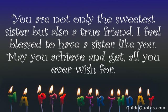 Happy Birthday Wishes Quotes For Sister Birthday Messages For