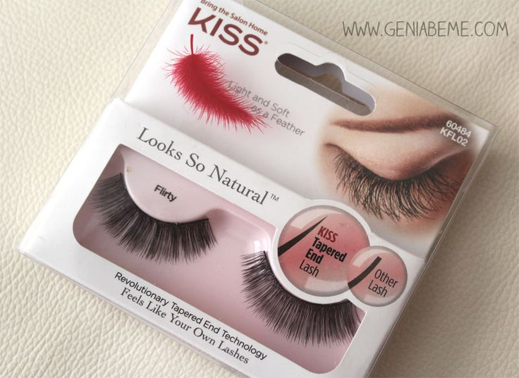 Simple Look with Kiss Looks So Natural Lashes | Geniabeme Beauty Blog- Pep up a simple look with @Kiss Products lashes! via www.geniabeme.com