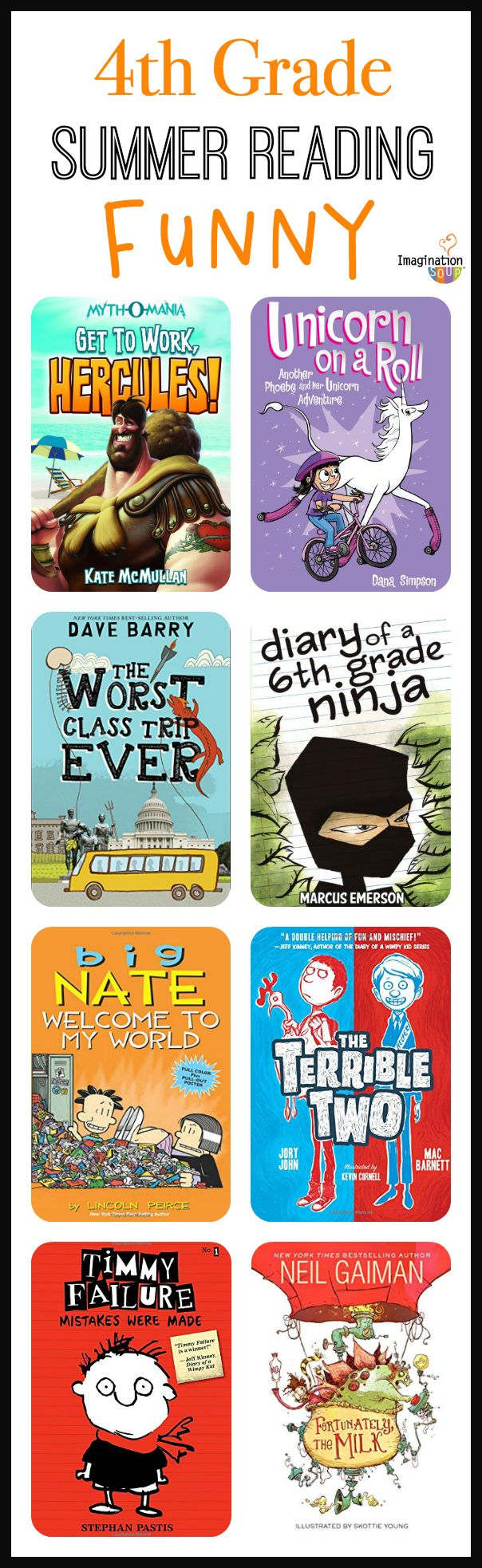 fourth grade summer reading list -- funny books