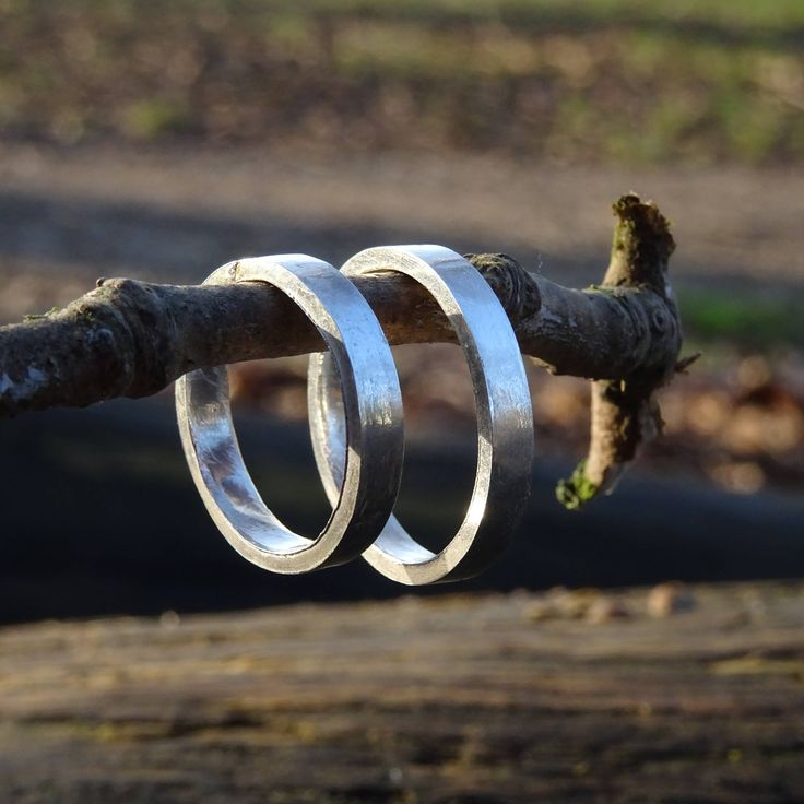 Set of Simple Weadding Rings- Sterling Silver by RingRosa on Etsy