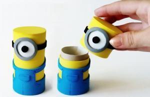 Cómo hacer cajitas de Minions